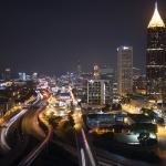 City of Atlanta at night